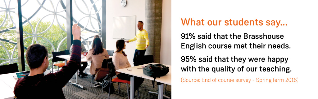 English Language Courses - what our students say